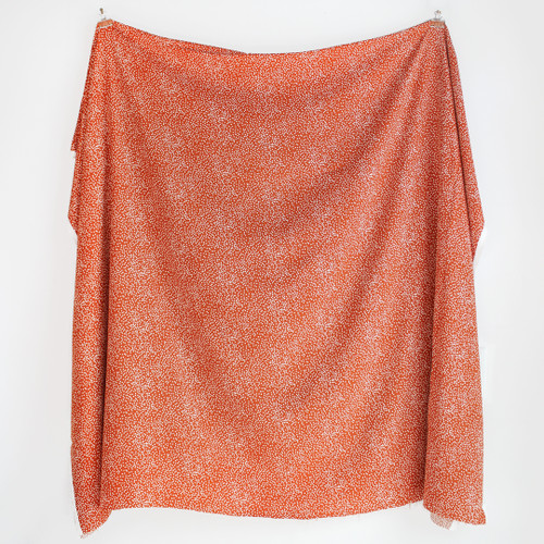 Spotty Viscose Twill - Burnt Orange | Blackbird Fabrics