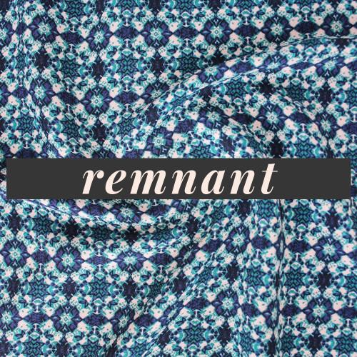 Remnant - 70 cm - Mosaic Tile Printed Viscose Crepe - Multi