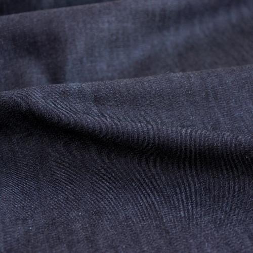 Italian Cotton Denim Shirting - Midnight Blue | Blackbird Fabrics