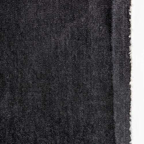 12.5oz Japanese Non-Stretch Denim - Vintage Black | Blackbird Fabrics