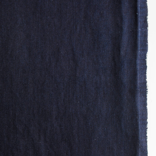 11.5oz Italian Non-Stretch Denim - Ultra Deep Indigo - 1/2 meter