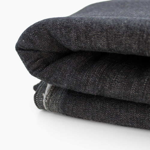 10oz Italian Stretch Denim - Smokey Black | Blackbird Fabrics