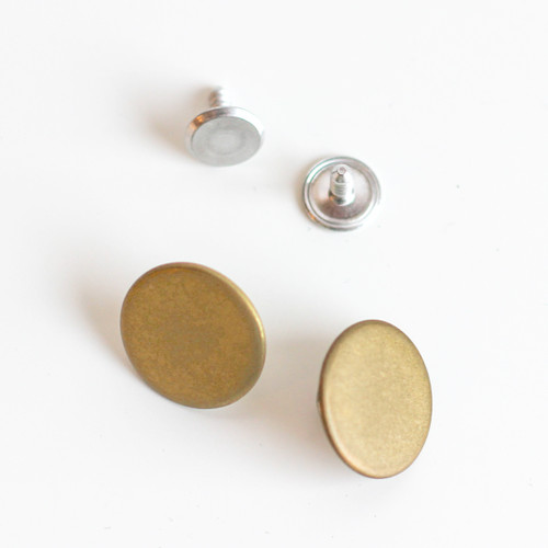 Jeans Buttons - Gold - Set of 2 | Blackbird Fabrics