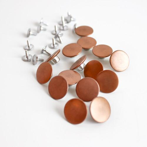 Jeans Buttons (17mm) - Copper - Set of 15 | Blackbird Fabrics