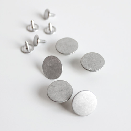 Jeans Buttons (15mm) - Silver - Set of 5 | Blackbird Fabrics