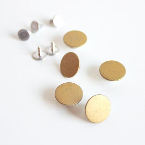 Jeans Buttons (15mm) - Gold | Blackbird Fabrics