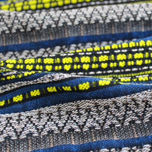 Handwoven Cotton Stripe - Blue/Yellow | Blackbird Fabrics