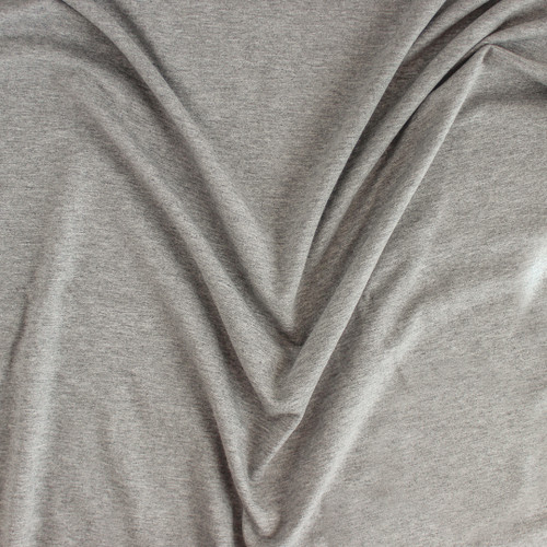 Cotton Modal Jersey Knit - Heather Grey | Blackbird Fabrics