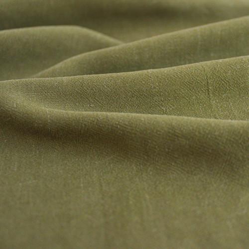 Viscose Linen Crepe - Olive   Blackbird Fabrics