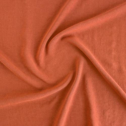 Viscose Linen Crepe - Rust   Blackbird Fabrics