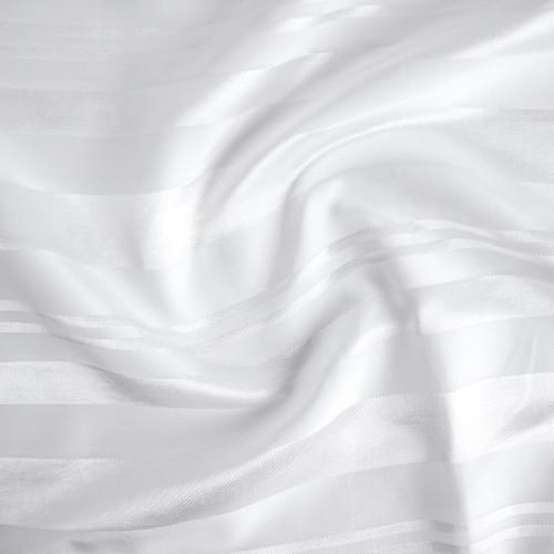 Self Stripe Viscose Linen Cotton - Ivory   Blackbird Fabrics