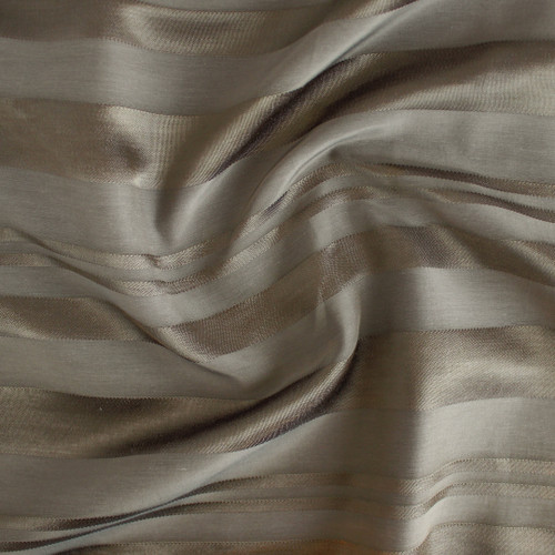 Self Stripe Viscose Linen Cotton - Light Olive | Blackbird Fabrics