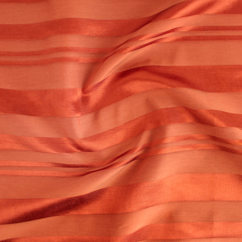 Self Stripe Viscose Linen Cotton - Rust | Blackbird Fabrics