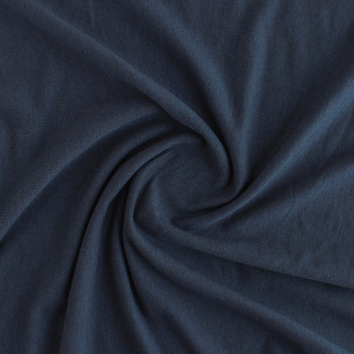 Tencel & Organic Cotton French Terry - Navy | Blackbird Fabrics