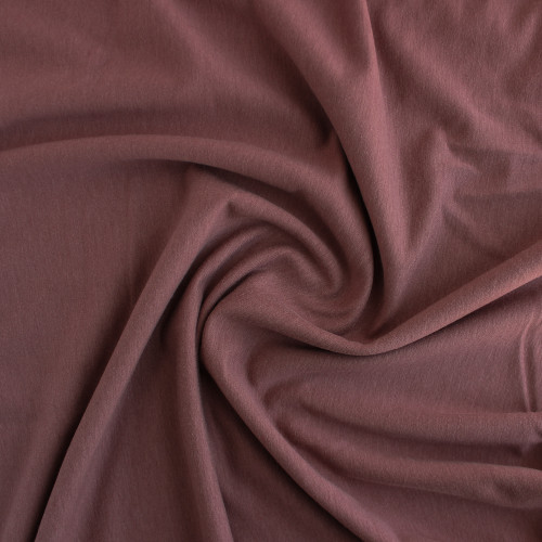 Tencel & Organic Cotton French Terry - Dusty Rose | Blackbird Fabrics
