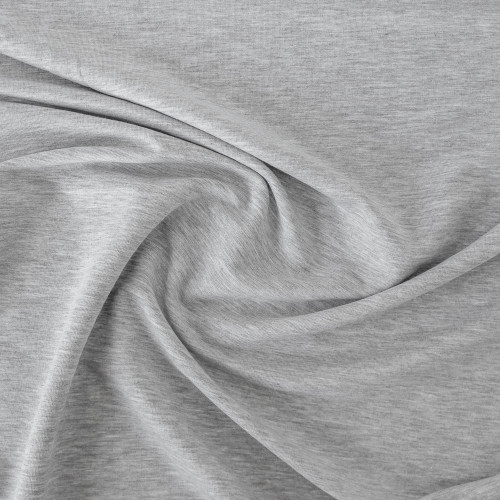 Tencel & Organic Cotton French Terry - Light Heather Grey | Blackbird Fabrics