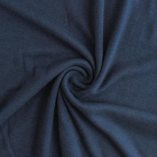 Tencel & Organic Cotton 2x2 Ribbing - Navy | Blackbird Fabrics