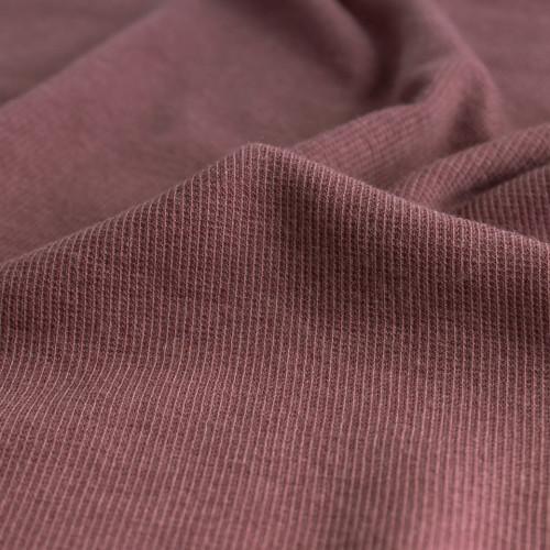 Tencel & Organic Cotton 2x2 Ribbing - Dusty Rose   Blackbird Fabrics
