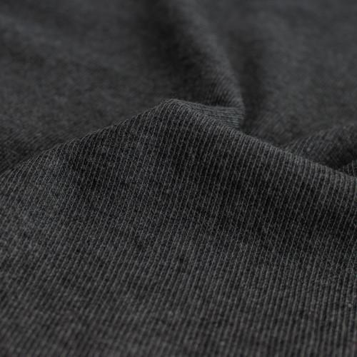 Tencel & Organic Cotton 2x2 Ribbing - Heather Charcoal | Blackbird Fabrics