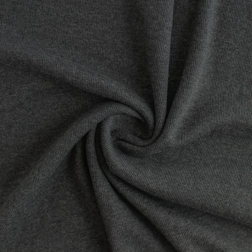 Tencel & Organic Cotton 2x2 Ribbing - Heather Charcoal - 1/2 meter