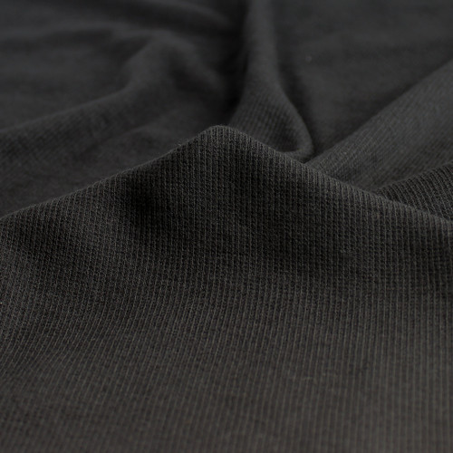 Tencel & Organic Cotton 2x2 Ribbing - Black | Blackbird Fabrics