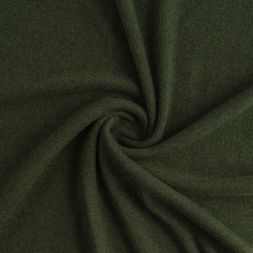 Tencel & Organic Cotton 2x2 Ribbing - Heather Forest | Blackbird Fabrics