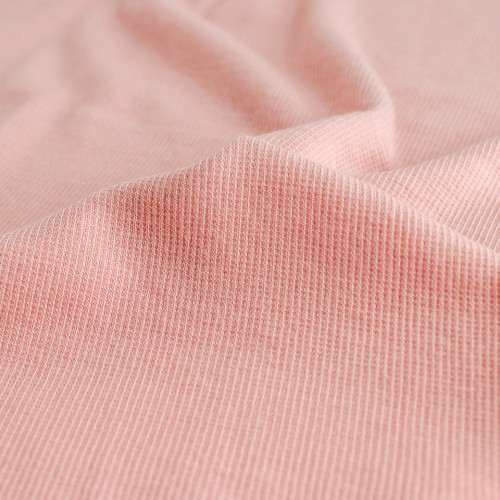 Tencel & Organic Cotton 2x2 Ribbing - Rose | Blackbird Fabrics