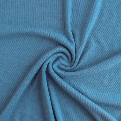 Tencel & Organic Cotton 2x2 Ribbing - Blue Jean | Blackbird Fabrics