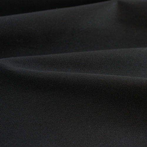 6.5oz Japanese Cotton Twill - Black | Blackbird Fabrics