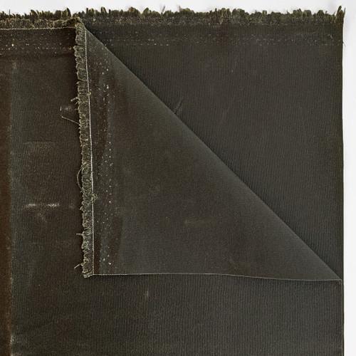 14oz Waxed Cotton Canvas - Dark Olive | Blackbird Fabrics