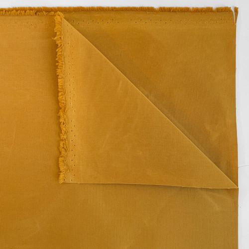 6.5oz Dry Waxed Cotton Canvas - Dijon   Blackbird Fabrics