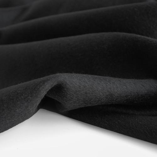 Wool Blend Coating - Black   Blackbird Fabrics