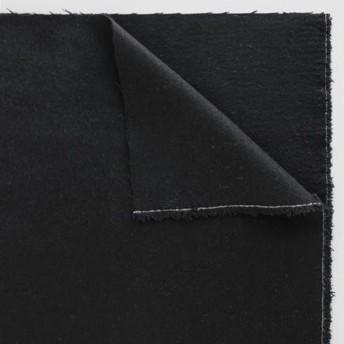 Wool Blend Coating - Black - 1/2 meter