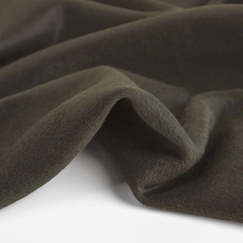 Wool Blend Coating - Dark Olive - 1/2 meter