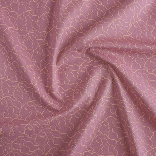 Alma She Printed Cotton - Vintage Lilac | Blackbird Fabrics