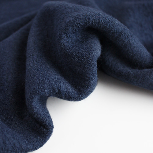 Lightweight Boiled Wool & Viscose - Dark Denim | Blackbird Fabrics