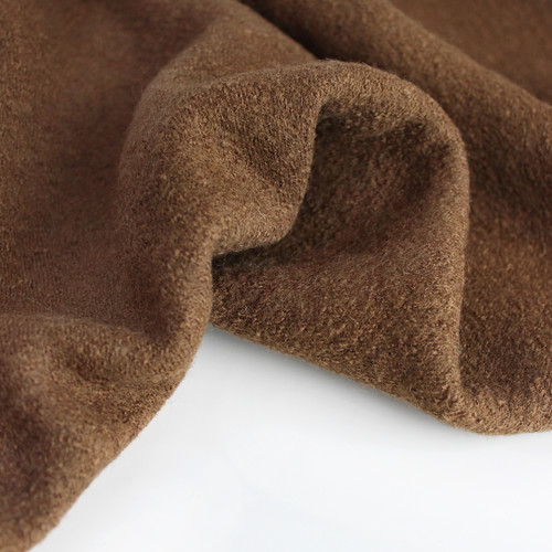 Lightweight Boiled Wool & Viscose - Bark | Blackbird Fabrics