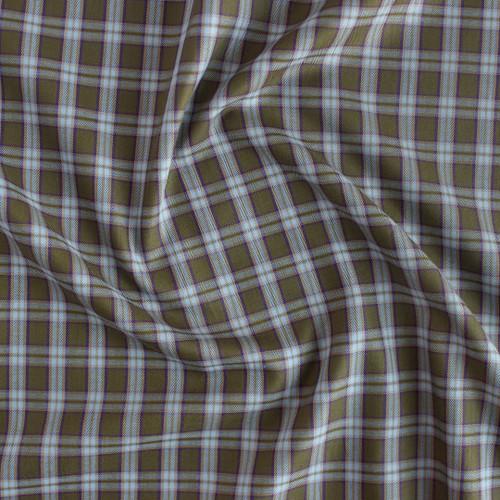 Plaid Cotton Shirting - Olive/Sky/Purple | Blackbird Fabrics