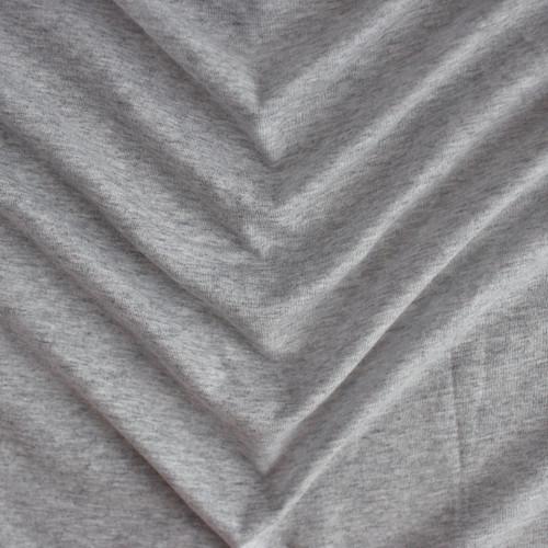 100% Organic Cotton Jersey Knit - Heather Grey | Blackbird Fabrics