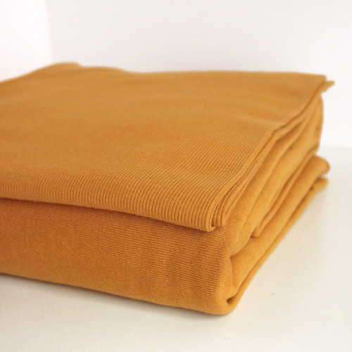 Bamboo & Cotton Sweatshirt Fleece - Turmeric | Blackbird Fabrics