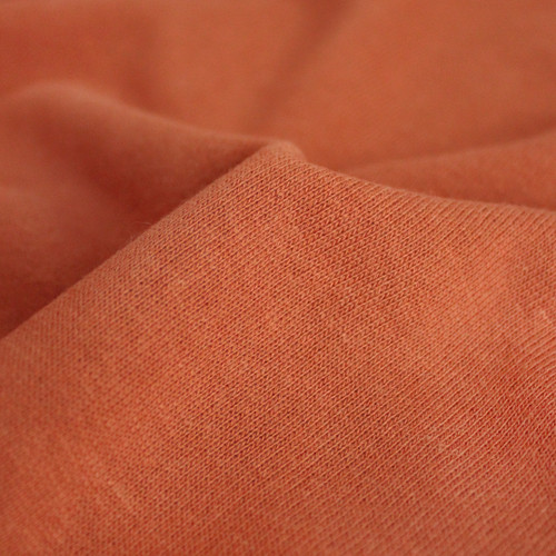Bamboo & Cotton Sweatshirt Fleece - Apricot | Blackbird Fabrics
