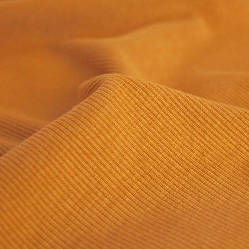 Bamboo & Cotton Sweatshirt Ribbing - Turmeric | Blackbird Fabrics