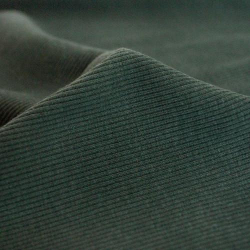 Bamboo & Cotton Sweatshirt Ribbing - Spruce   Blackbird Fabrics