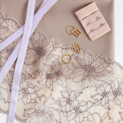 Lace Bra Kit - Ivory/Mauve | Blackbird Fabrics