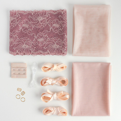 Lace Bra Kit - Dusty Rose | Blackbird Fabrics