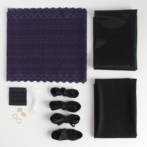 Lace Bra Kit - Grape | Blackbird Fabrics