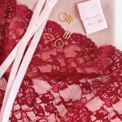 Lace Bra Kit - Port | Blackbird Fabrics
