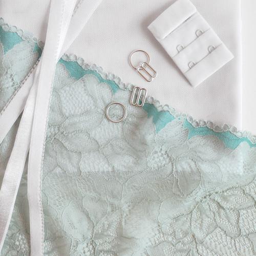 Lace Bra Kit - Seafoam/White | Blackbird Fabrics