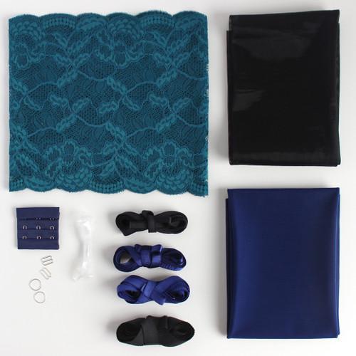 Lace Bra Kit - Teal/Royal Blue | Blackbird Fabrics
