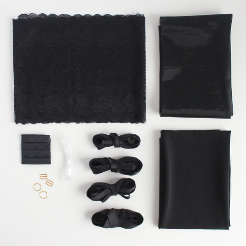Lace Bra Kit - Black | Blackbird Fabrics